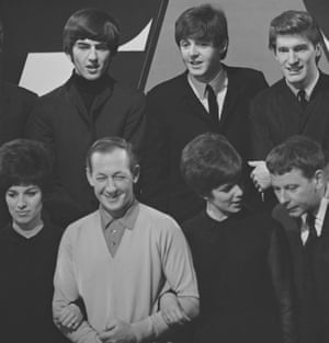 With the band … Matthew with members of the Beatles, the Searchers and the Breakaways on Thank Your Lucky Stars, 1963.