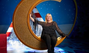Debbie Isitt on stage at the Lyceum Theatre in Sheffield for the stage production of her film Nativity!