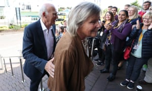 Vince Cable and wife, Rachel, arrive at the Lib Dem conference last week.