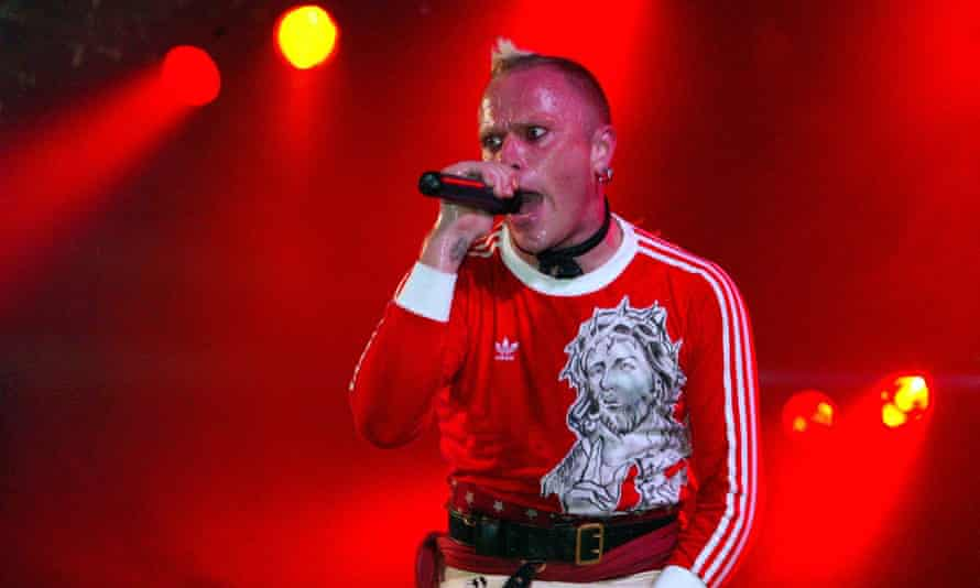 Keith Flint at T in the Park at Balado, Kinross, Scotland, in 2003.