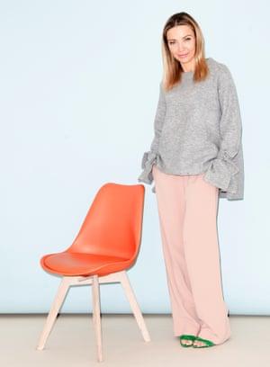 Jess Cartner-Morley in wide-leg trousers