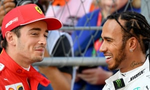 Charles Leclerc and Lewis Hamilton.