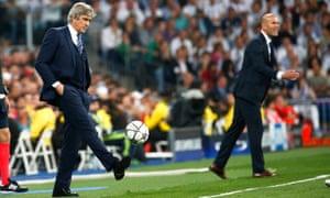 Pellegrini and Zidane