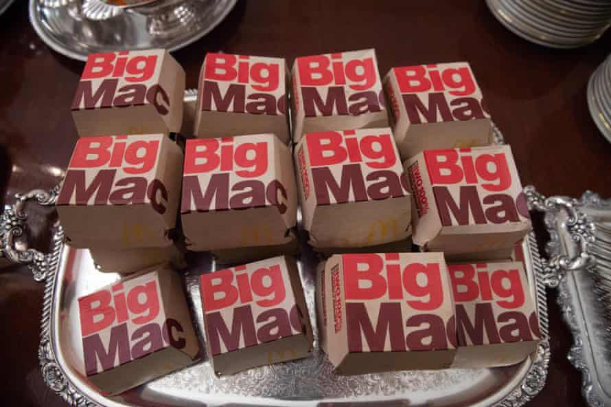 Big Macs proudly offered by the president