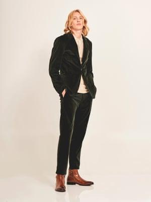 Cord jacket, £300, and cord trousers, £150, both fillipa-k.com Polo shirt, £35, riverisland.com Boots, £130, aldoshoes.com