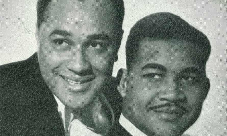 Vic Evans (Victor Brown), left, and Chester Harriott during their heyday as the musical duo Harriott and Evans in the 1950s.