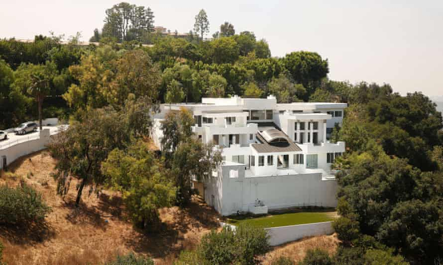 Police investigate a mansion in the Beverly Crest area of Los Angeles where gunfire erupted at a large party.