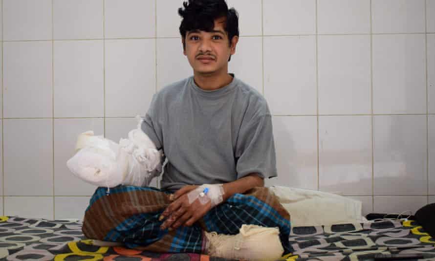 Abul Bajandar at the Dhaka Medical College Hospital
