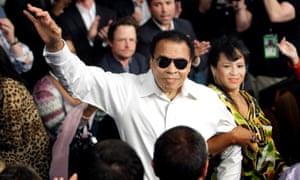 Muhammad Ali and his wife Yolanda