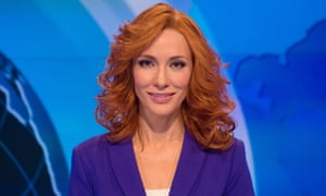 Cate Blanchett as a newsreader, one of 13 characters she plays in Manifesto by Julian Rosefeldt.