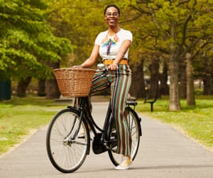 Two wheels good: Jools Walker on her Pashley Princess.