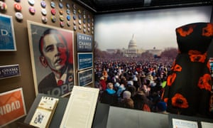 An exhibit on the inauguration of President Obama.