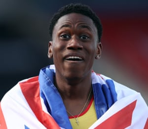 A shocked Ojie Edoburun reacts to winning.