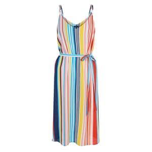 Multi stripe midi dress