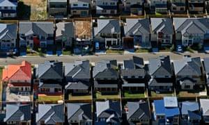 Urban sprawl in south-west Sydney
