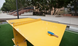 A ping-pong table on the Goods Line.