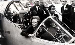 Margaret Thatcher in a Harrier Jump Jet in 1982