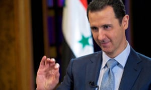 Syria's President Bashar al-Assad is seen during the filming of an interview with the BBC, in Damascus February 9, 2015. Assad said third parties including Iraq were conveying information to Damascus about a U.S.-led campaign of air strikes against the Islamic State militant group in Syria. In an interview with the BBC broadcast on Tuesday February 10, Assad said there was no direct cooperation with the United States, whose air force has been bombing Islamic State in Syria since September. Picture taken February 9, 2015. REUTERS/SANA/Handout via Reuters (SYRIA - Tags: CIVIL UNREST POLITICS CONFLICT MEDIA TPX IMAGES OF THE DAY) ATTENTION EDITORS - THIS PICTURE WAS PROVIDED BY A THIRD PARTY. REUTERS IS UNABLE TO INDEPENDENTLY VERIFY THE AUTHENTICITY, CONTENT, LOCATION OR DATE OF THIS IMAGE. FOR EDITORIAL USE ONLY. NOT FOR SALE FOR MARKETING OR ADVERTISING CAMPAIGNS. THIS PICTURE IS DISTRIBUTED EXACTLY AS RECEIVED BY REUTERS, AS A SERVICE TO CLIENTS
