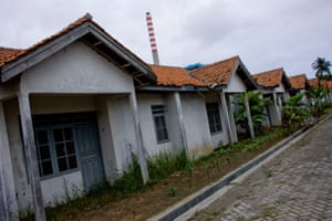 Abandoned houses near the Cilacap coal-fired power plant