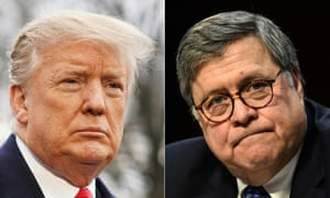Donald Trump and his attorney general, William Barr.