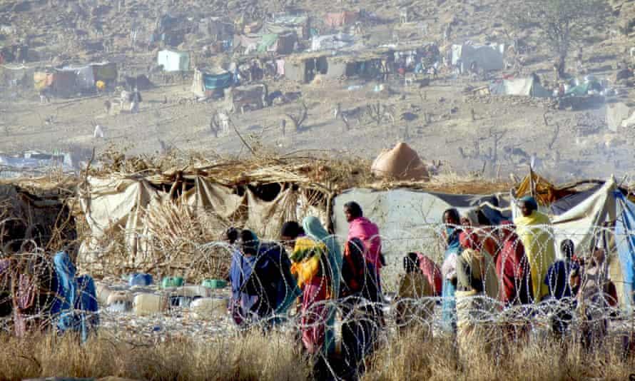 Displaced persons in Sortoni, in Sudan's North Darfur