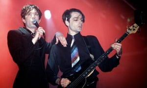 On stage in Pulp, 1995.