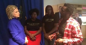 Hillary Clinton meets with Black Lives Matter activists in Boston.