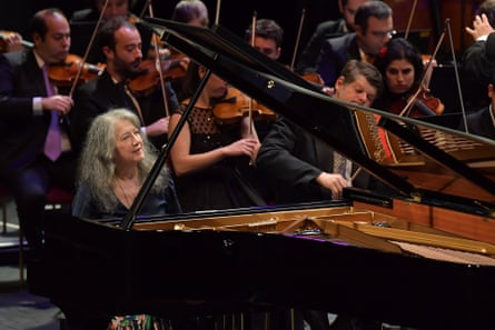 Martha Argerich performs Liszt's Piano Concerto No 1 with the West-Eastern Divan Orchestra conducted by Daniel Barenboim.