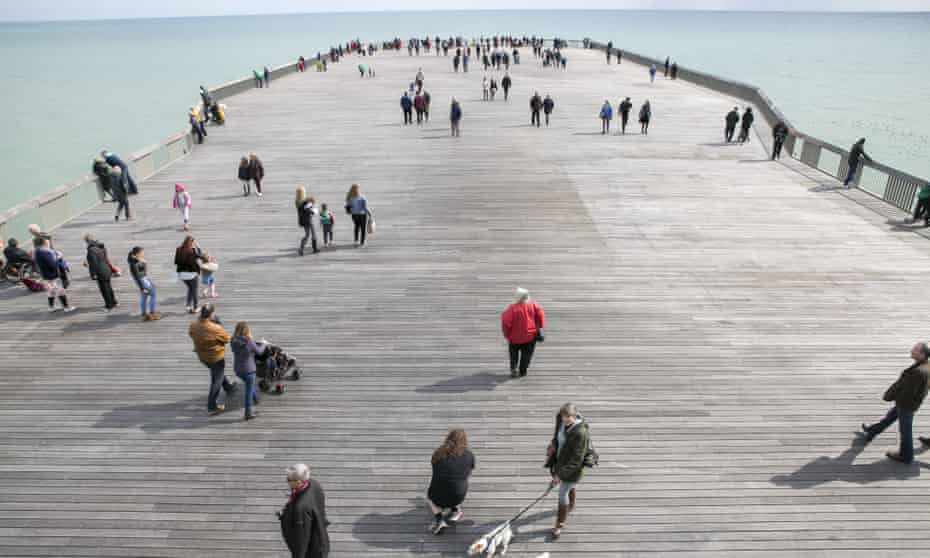 The new pier is not to everyone's liking, with some locals referring to it demeaningly as 'the plank'.