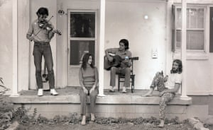 Daniel Antopolsky pictured right, with Townes Van Zandt, Susanna Clark and Guy Clark.