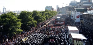 The 12,000-strong Welcome to Hell march in Hamburg, which took place on the eve of the summit