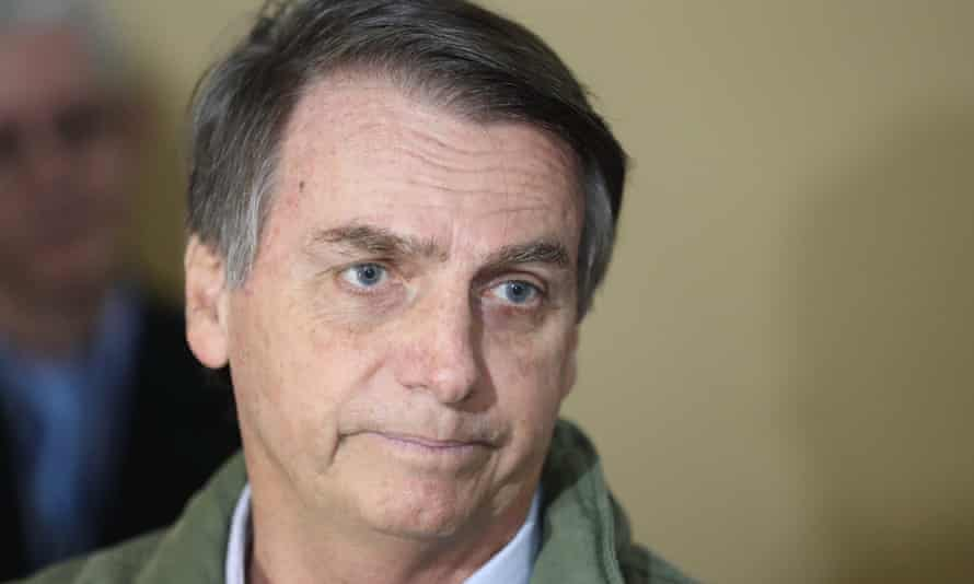 Jair Bolsonaro: 'We are taking over a completely broken Brazil. We've never had such a major ethical, moral and economic crisis and we want to get out of this quagmire.'
