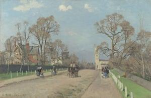 The Avenue, Sydenham, 1871, by Camille Pissarro.