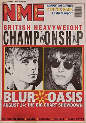Setting the agenda ... NME confected the 'chart showdown' between Blur and Oasis, which made the national news.