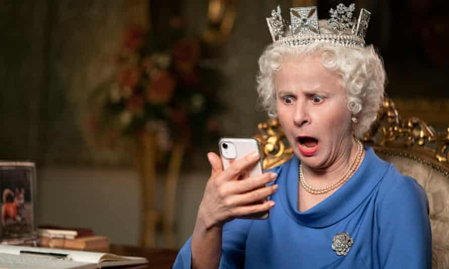 I have a text message!  ... Tracey Ullman as the Queen.