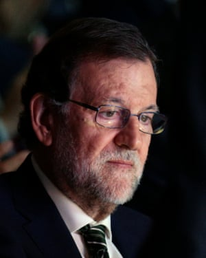 Spain's acting Prime Minister Rajoy attends an event in Madrid