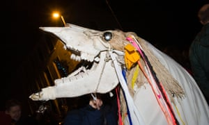 A horse's skull is a traditional part of the Llanwrtyd Wells festivities.