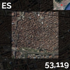 ES - population density maps - barcelona