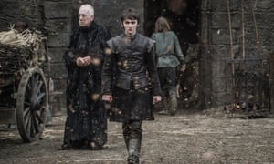 A terrifying vision quest … Bran Stark and Three-Eyed Raven.