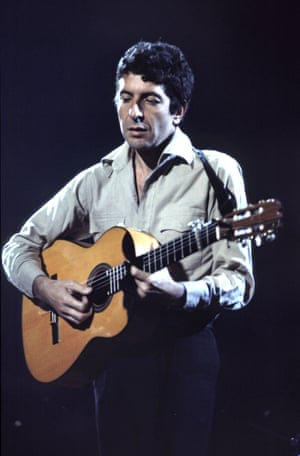 Leonard Cohen performing at the Royal Albert Hall, London, in 1973.