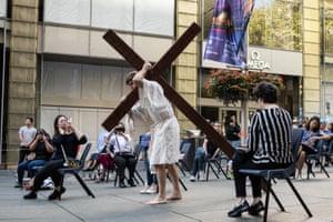 A Good Friday crucifixion walk in Sydney, Australia