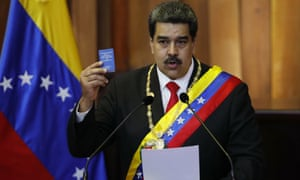 Nicolas Maduro is sworn in as president at the supreme court in Caracas.