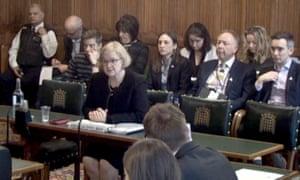 Amanda Spielman, the head of England's schools regulator, speaking to MPs