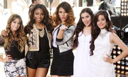 Cabello (far right) in Fifth Harmony in 2013.