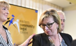 Minister for women Michealia Cash (left) with Australian of the Year and anti-domestic violence campaigner Rosie Batty.