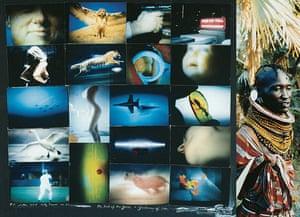 Convalescing TV Shots, 1996, with Samburu Woman Detail, 2000