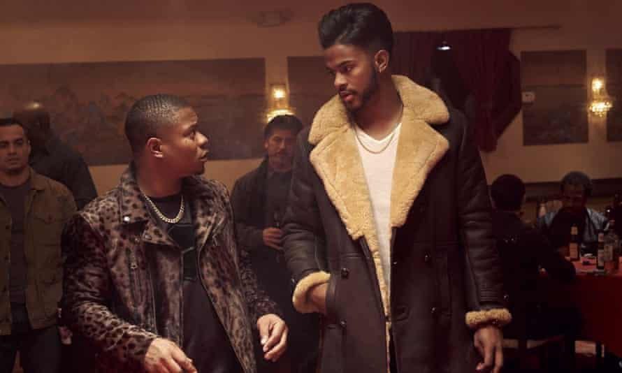 Jason Mitchell and Trevor Jackson in Superfly.