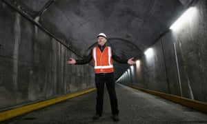 Turnbull in tunnel
