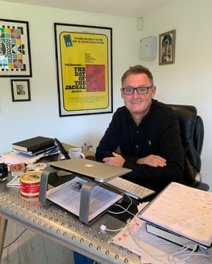 Hands off … producer Jeff Pope oversees the series from his garden office.