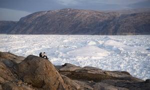 The Helheim glacier in Greenland